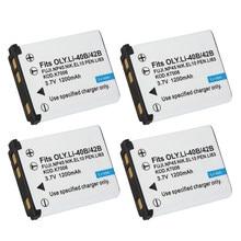 Batterie LI42B, NP45, NP45, np 45, pour fujifilm, el10, nikon, pour OLYMPUS U710, FE230, FE340, FE290, FE360, LI 40b