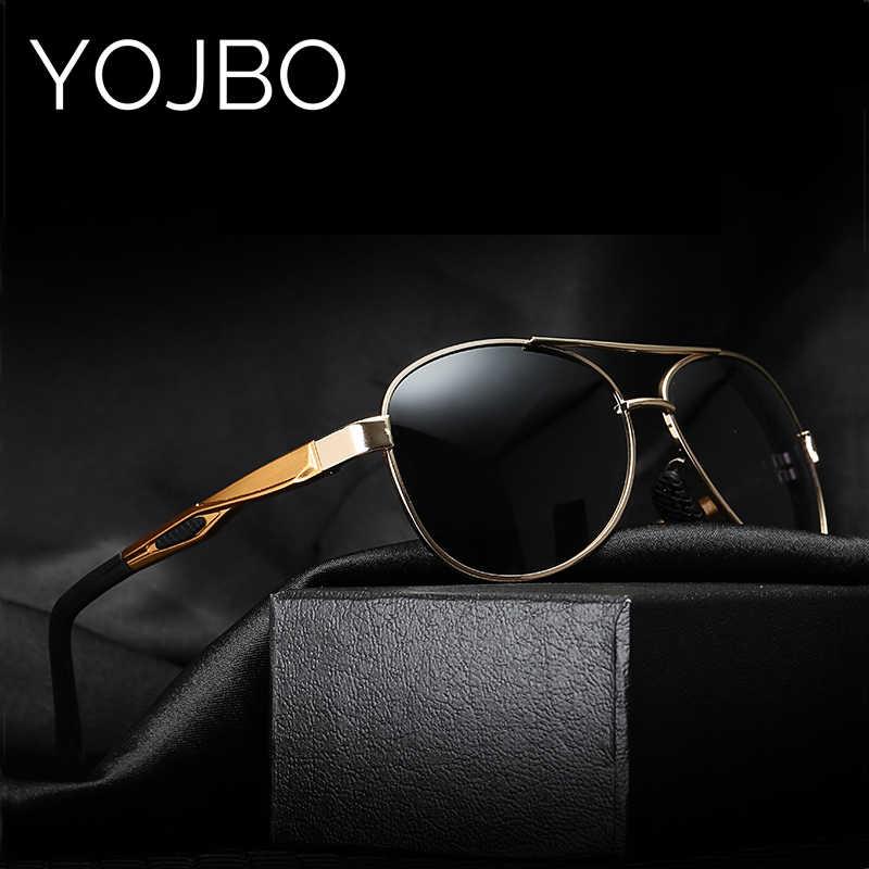 f1512e9cf9 YOJBO Brand Designer Sunglasses Men Polarized Pilot Driving 2019 Male Blue Mirror  Women Shade UV400 Black