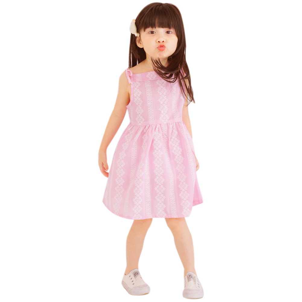2018 Spring Summer Baby Girls Dress Floral Print Cotton Princess Dresses Birthday Party Sundress Baby Girls Sling Dress 3-7Y 2018 checkered baby sling suit summer
