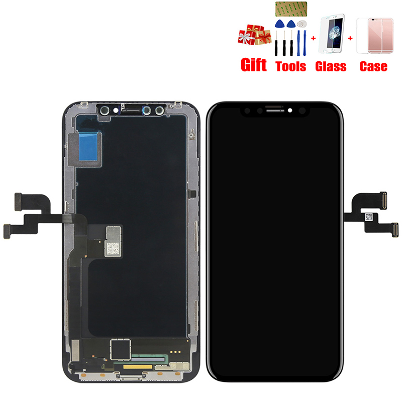 100% AAAA Grade AMOLED écran lcd Pour iPhone X XS XR XS Max AMOLED écran d'affichage lcd Digitizer Tactile Module Écrans de Remplacement