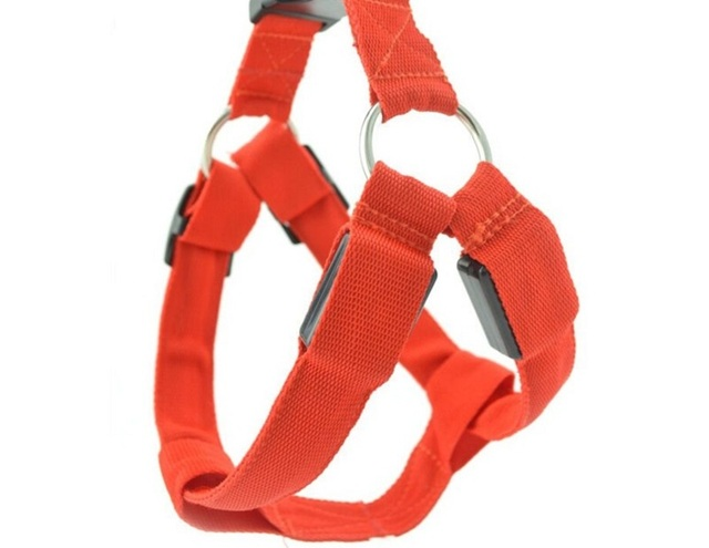 fg26 gratis verzending nylon led hond harnas kat halsband harness vest riem veiligheid verlichte hond harnas