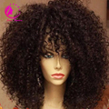 Brazilian virgin kinky curly u part wig 7a grade human hair upart wig for black women with combs and strap 150 density free ship