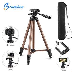 Image 1 - Universal Portable Tripod Lightweight Camera Tripod For Mobile Phone Professional Tripod For Canon Sony Nikon Camera SmartPhone