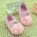 2016 Princesa Meninas Doce Nascido PU Mary Jane Do Bebê Primeiro caminhantes Sapatos de Bebê sólidos arco nó Infantil Bebê Sola Macia sapatos