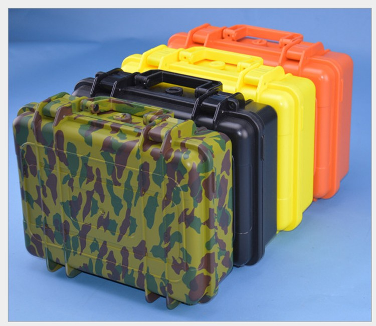 255*190*85mm ABS Tool Case Toolbox Impact Resistant Sealed Waterproof Safety Case Equipment Camera Case With Pre-cut Foam