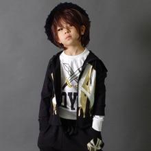 Новая мода весна Осень детская одежда набор Костюмы толстовка Хип-Хоп шаровары повседневная детские костюмы Оптом