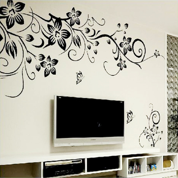 Hot DIY Wall Art Decal Decoration Fashion Romantic Flower Wall Sticker Wall Stickers Home Decor 3D