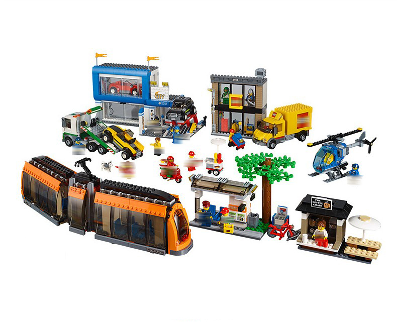 Lepin 02038  1767pcs Geuine City Series City Square Model  Building Blocks Bricks Educational Toys For Children 42070 lepin 02012 774pcs city series deepwater exploration vessel children educational building blocks bricks toys model gift 60095