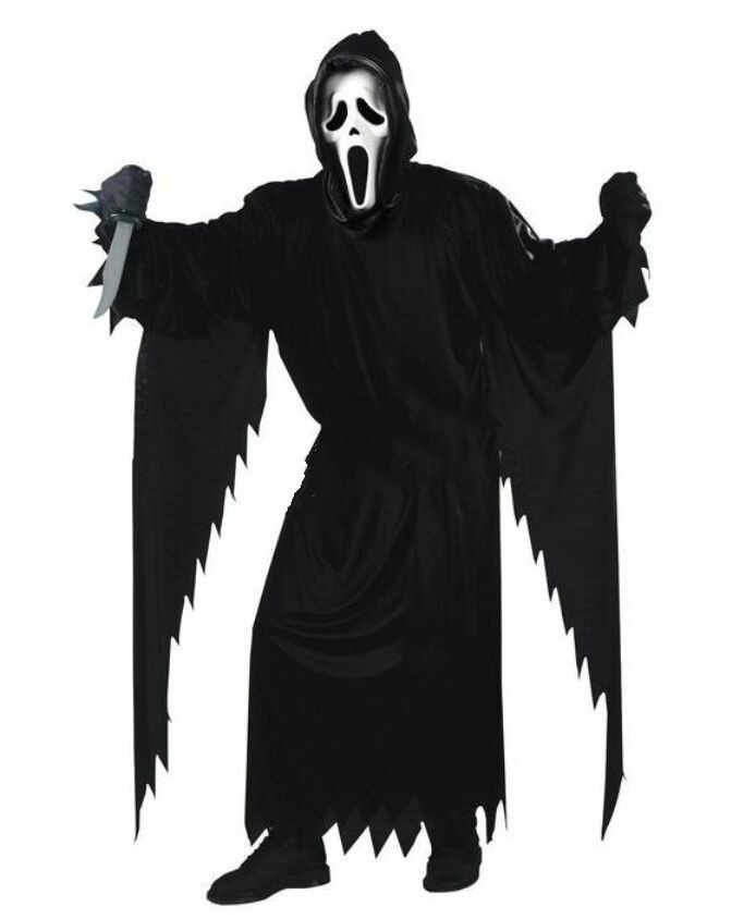 Disfraz de Halloween, disfraz para adulto, disfraz de adulto, demonio, grite, fantasma, demonio de la muerte