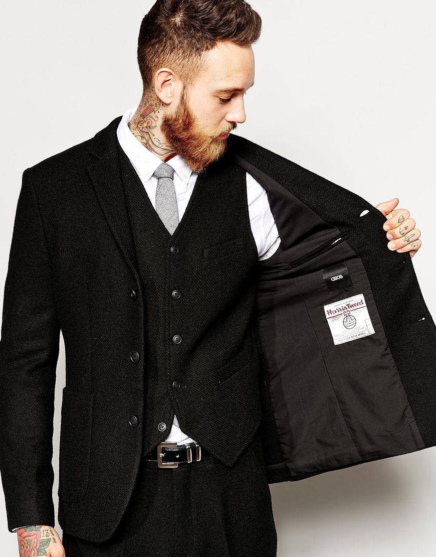 2018-Latest-Coat-Pant-Designs-Winter-Black-Tweed-Men-Suit-Slim-Fit-3-Piece-Tuxedo-Custom (2)