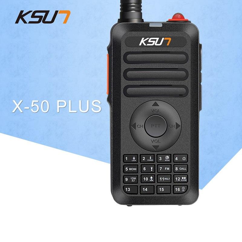 KSUN X-50 PLUS Mini Talkie Walkie 400-470 Mhz Fréquence UHF Radio deux raido façon 5 w talkie walkie émetteur-récepteur D'anniversaire Cadeau