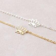 bracelets 10PCS- B012 Fashion Cute Plant Lotus Bracelets Tiny Lotus Flower Bracelets for Prom Petal Bracelets Jewelry for Weddings