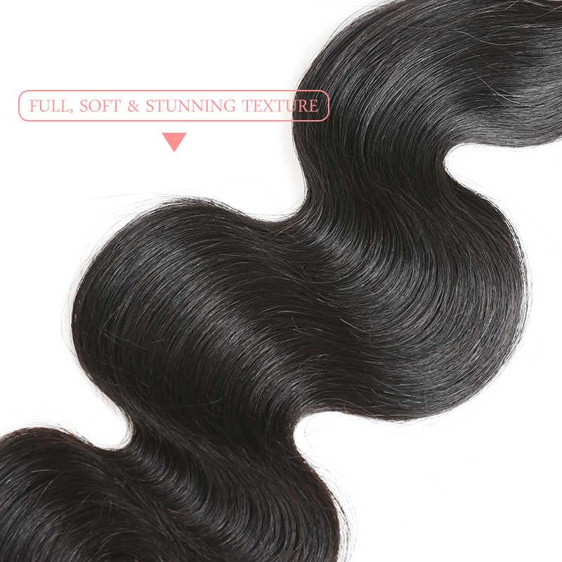 Ali queen Волосы бразильские объемные волнистые предварительно сорванные 360 Кружева Фронтальная с детскими волосами девственные человеческие волосы натуральные волосы бесплатная доставка