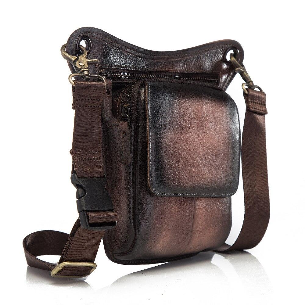 Fine Jewelry Spirited Hot Sale Quality Leather Men Fashion Travel Small Shoulder Bag Designer Belt Waist Pack Drop Leg Bag Phone Pouch 211-1db
