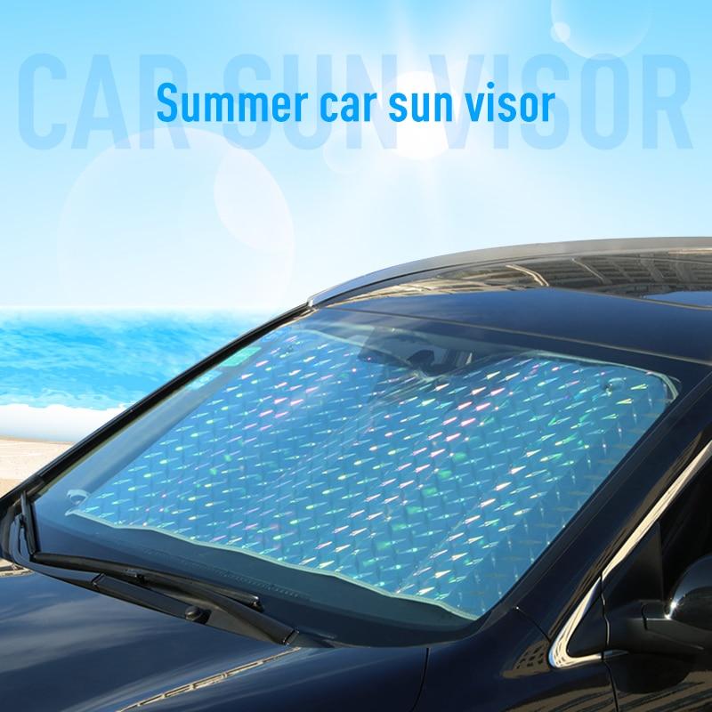 Car Thickening Laser Window Sunshades Visor Film Car Front Rear Windshield Sun Shade Car Exterior Accessories Auto Parts