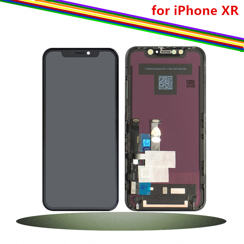 6.1 pouces D'origine Nouveau pour iPhone XR écran lcd écran numériseur Assemblée avec Cadre, Noir-1792x828