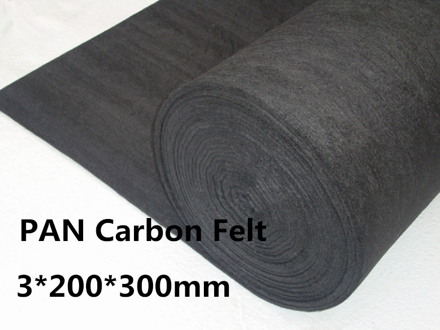 Carbon Graphite Felt PAN-Based PANCF3200300, Graphite Carbon Felt Pad for Glassblowing,FREE SHIPPING soft carbon graphite felt pan based scf310001000 carbon felt insulation roll for vaccum furnace