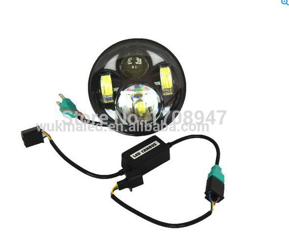 1piece Best price of 2017 Harley motorcylce 5 3/4 DAYMARKER black LED Light headlight Motorcycle harley 5.75 with DRL best price 5pin cable for outdoor printer