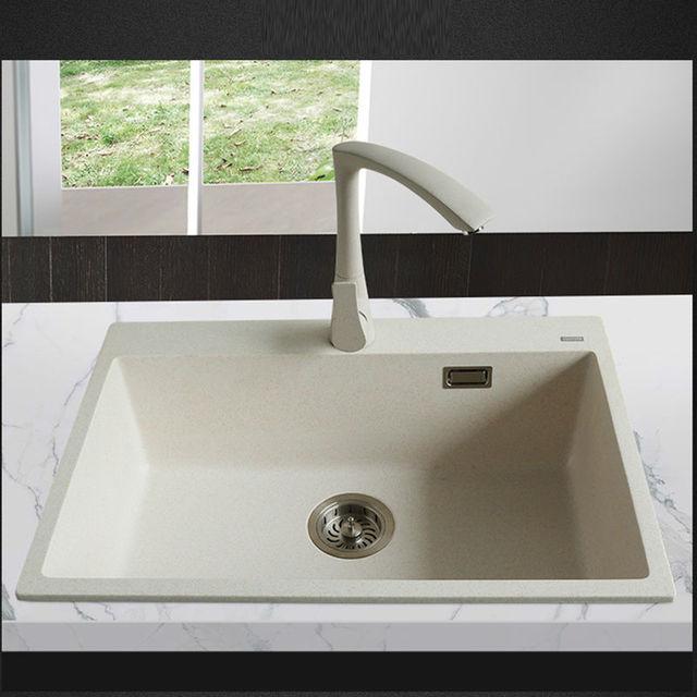 Gut gemocht 650*450*200mm Quarzstein Spülbecken Granit einzigen Schüssel VY49