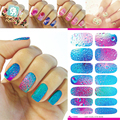 K5640 Personalized makeup nail stickers Water to stickers Mysterious Ocean Blue Nail Sticker many color free shipping
