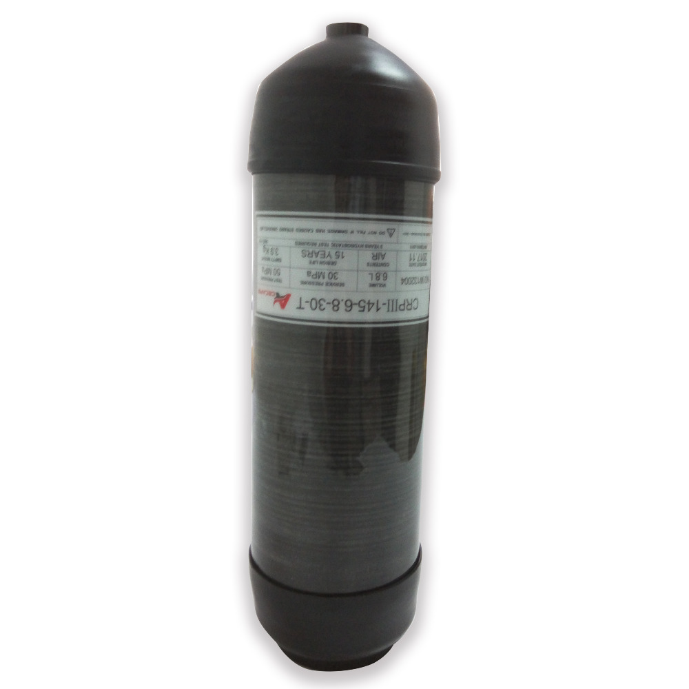 AC36891 Pcp High Pressure Cylinder 6.8LGB 4500psi Paintball Tank PCP Air Rifle With Protect Cover Boots Drop Shipping Acecare