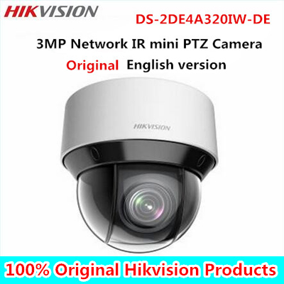 DHL Free shipping english version DS-2DE4A320IW-DE 3MP Network IR mini PTZ Camera 3D intelligent positioning function dhl free shipping english version ds 7108ni e1 v w embedded mini wifi nvr poe 8ch for up to 6mp network ip camera