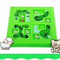 2017 Quality New Kids Animal Maze Puzzle IQ Mind Logic Brain Teaser Puzzles Game Toys For Children