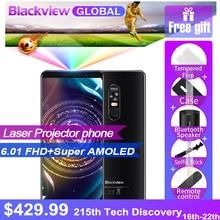 Hızlı gemi Blackview MAX 1 Lazer projektör telefon 6.01 inç 18:9 AMOLED 6 GB 64 GB 4680 mAh Android 8.1 mini Projektör NFC Smart...