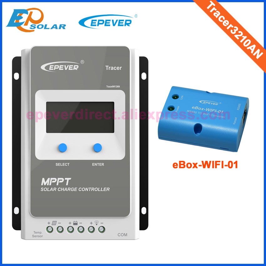 Tracer3210AN MPPT Solar Controller with ebox WIFI module 30A 12V/24V MPPT solar charge controller for solar panel charger цена