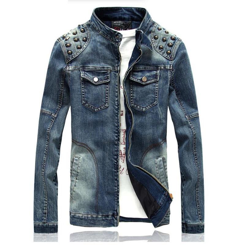 e93140901b033 2016 Denim Jacket Korean Version Of The New Rivet Slim Jackett Men Jacket  Men Clothing Jeans