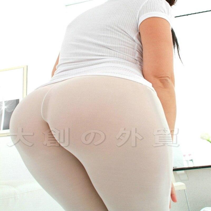 Sexy Women See Through Mesh Leggings  Casual  Sheer Mid-Calf Pants Capris Club Wear
