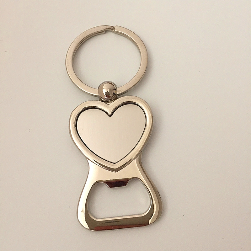 FREE shipping by DHL New Heart Shaped Bottle Opener Keychains Zinc Alloy Keyrings for Wedding Gifts
