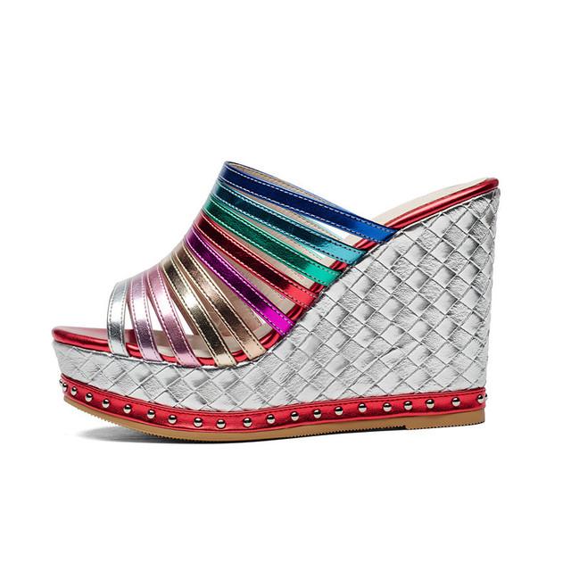 Summer leather platform Sandals
