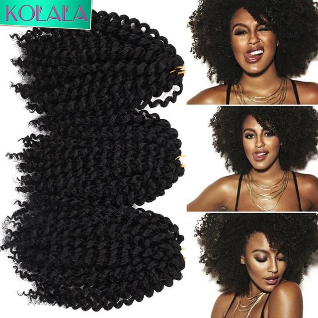 "8"" Afro Kinky Curly Crochet Braids Marlybob Freetress Wavy Braiding Hair Extensions 3pcs/set Havana Mambo Twist curly Bulk Hair"