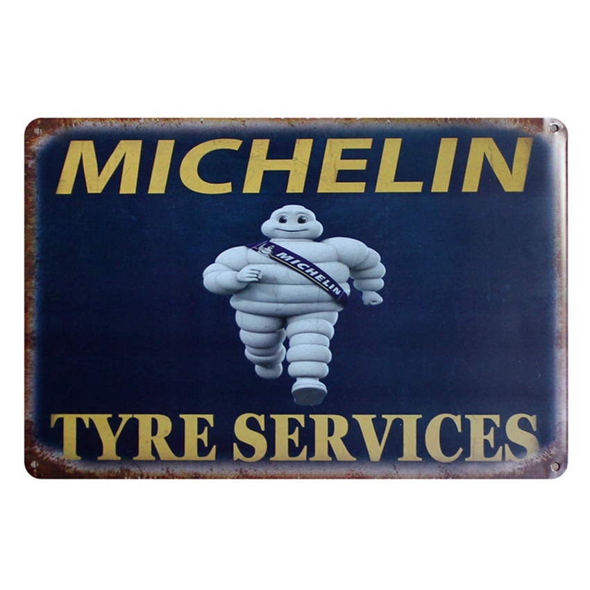 [ Kelly66 ] TYRE SERVICES Retro Metal Sign Wall Bar Cafe Home Decor 20*30 CM size D-44