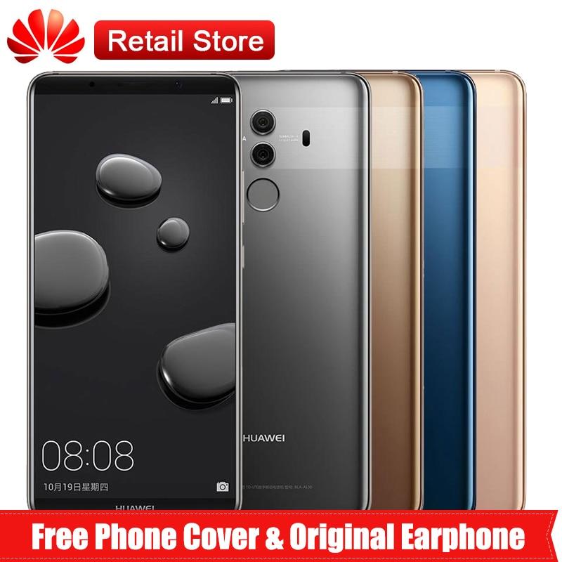 """Huawei Коврики 10 Pro 6 ГБ Оперативная память 128 ГБ Встроенная память 4G LTE 6,0 """"Kirin 970 2160*1080 4000 мАч 3 камер отпечаток пальца NFC Android 8,0 смартфон"""