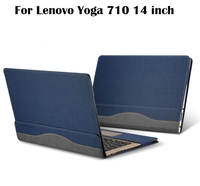High Quality Laptop Cover For 14 inch Lenovo Yoga 710 Sleeve Case PU Leather Protective skin For Yoga 710 14 inch Notebook Cover