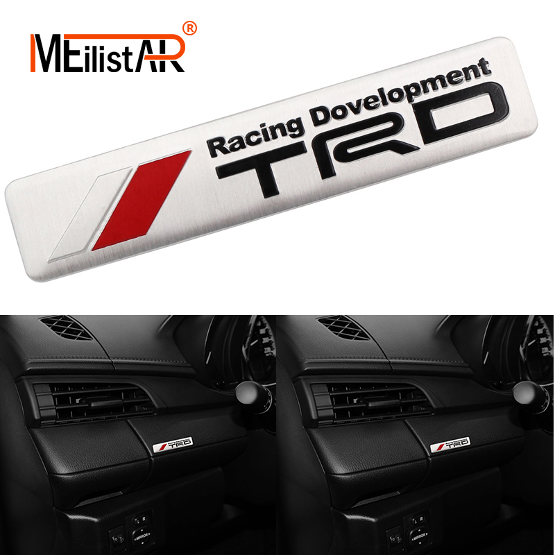 1PCS Auto Car Styling 3D Racing Development TRD Sticker Emblem Decal For Toyota Car Tail Fender Exterior Body Decoration