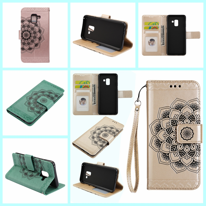 Case For <font><b>Samsung</b></font> Galaxy A8 2018 Wallet Card Flip PU Leather Holder Magnet Soft TPU Silicone Case for <font><b>Samsung</b></font> <font><b>A530F</b></font> A530DS <font><b>Cover</b></font> image