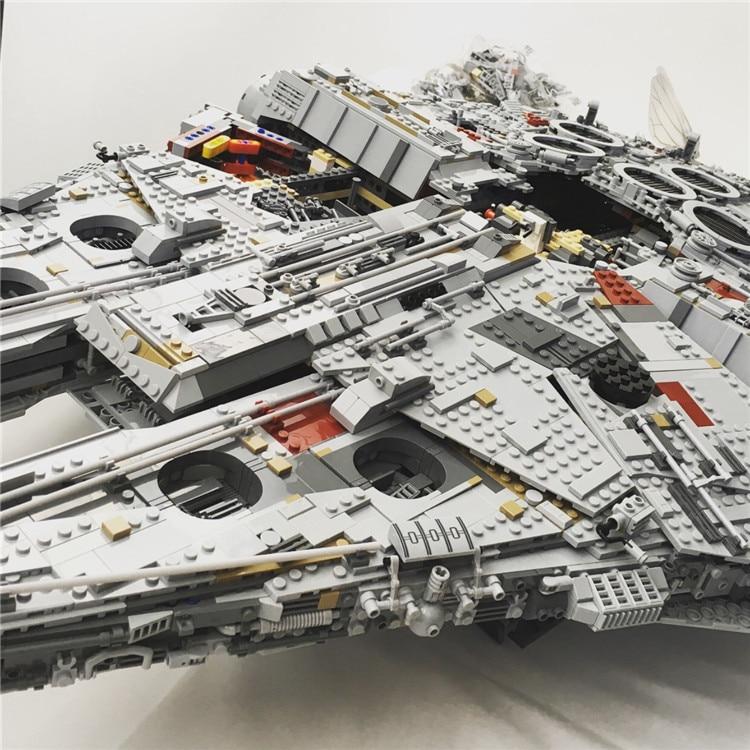 Millennium Falcon Lepin8445pcs Compatible 75192 Star wars Series Ultimate Collectors Model Building Bricks Toys 17