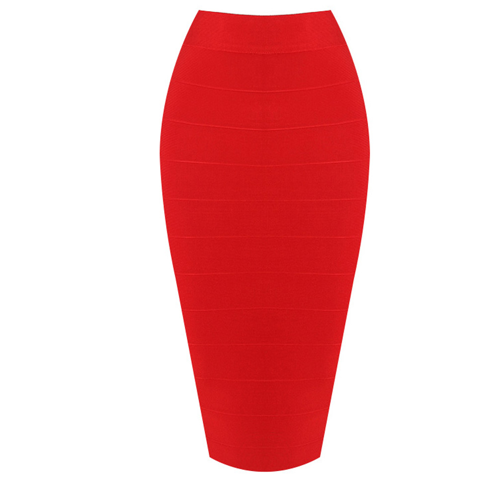 KLEEZY Clearance Sales New Fashion Evening Party Length Knee-Length Bandage Bodycon Women SexyPencil Skirts HL1498