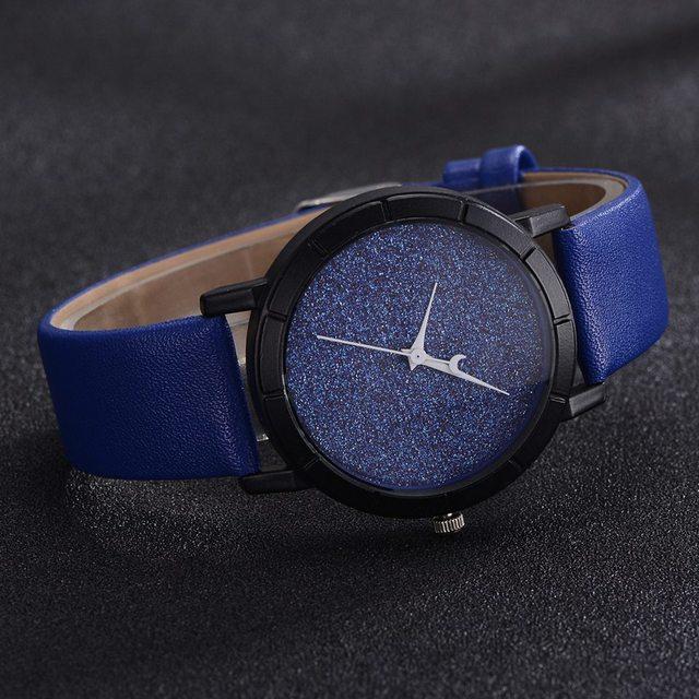 Women Bracelet Leather Strap Watch Blue Starry Sky Ladies Sport Wristwatch Fantatic Women Fashion Luxury Quartz Watch Feminino