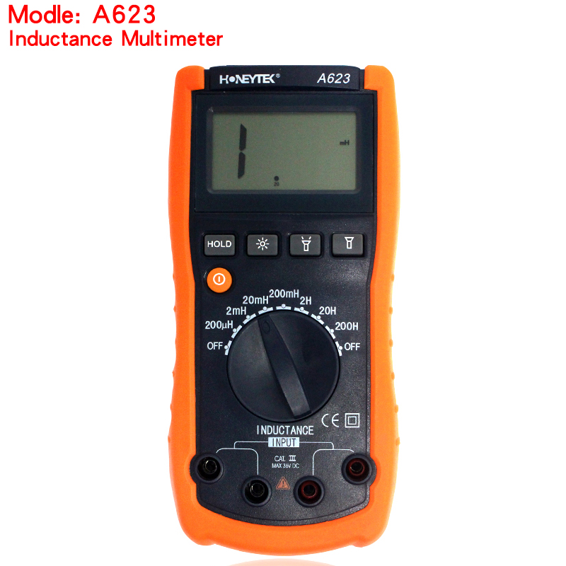 free shipping A623 inductance tester multimeter digital inductance meter,digital multimeter inductance tester high precision digital capacitance inductance meter auto ranging component tester 500kh lc rc oscillation inductance multimeter