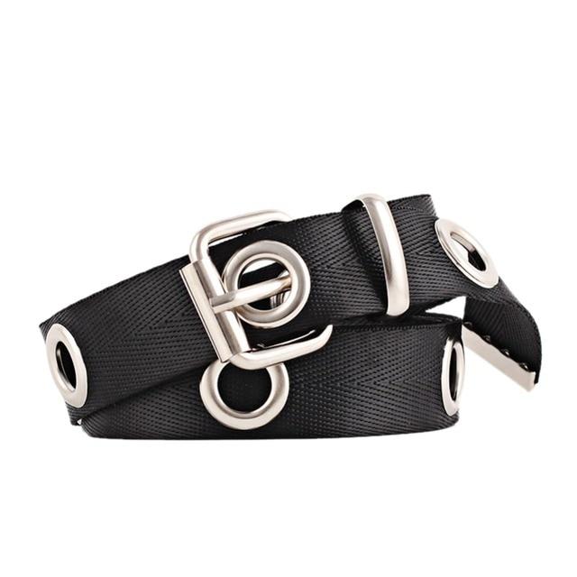 b083c2d701 Hot Sale Fashion Women Hollowed out Air Hole Style Lengthened Waist Belt  All-matching Decorative Canvas Waist Belt