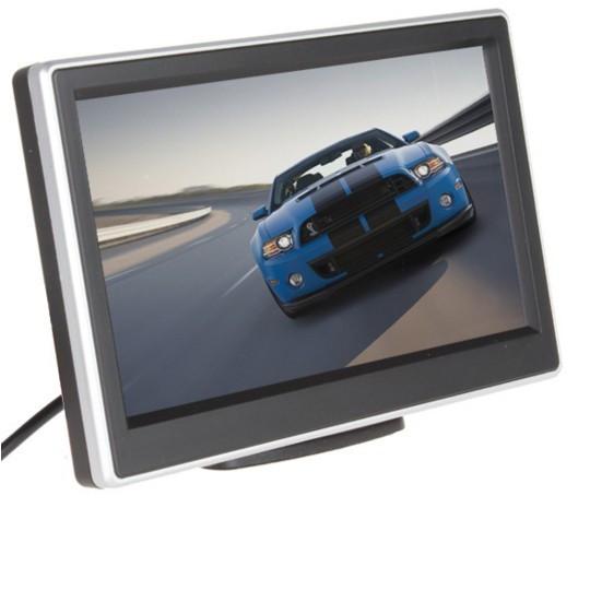 5 Pulgadas LCD Pantalla de Visualización de Vehículos de Coches Retrovisor del Revés del Monitor DVD VCR