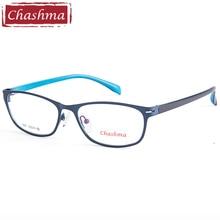 Chashma Brand Simple Designer Women Alloy Full Frame Fashion Eyewear Spectacles for Female