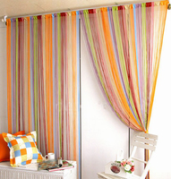 Free Shipping 100 200cm Line Curtain Indoor Upscale Decor Hotel Bedroom Curtain Multicolor Optional