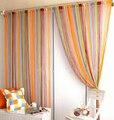 Frete grátis, 100 * 200 cm cortina linha de decoração de alto padrão interior quarto de Hotel cortina Multicolor opcional