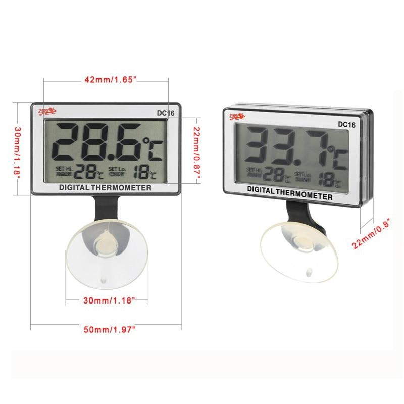 lcd digital fish tank aquarium thermometer submersible water