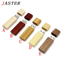 JASTER (10 PCS free LOGO) Wooden memory Stick usb 2.0 bamboo wood usb flash drive pen drive pendrive 8gb 16gb 32GB wedding gift